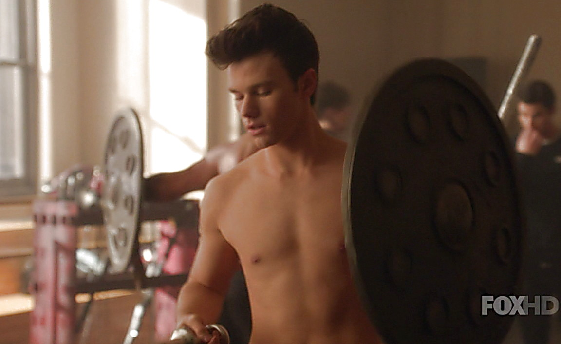 Chris Colfer sexy shirtless scene May 15, 2014, 4pm