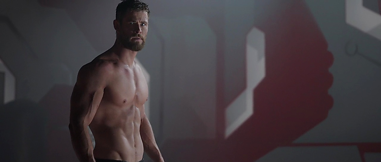Chris Hemsworth sexy shirtless scene January 21, 2018, 6am