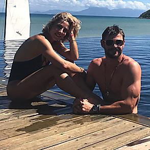 Chris Hemsworth latest sexy shirtless August 15, 2017, 12am