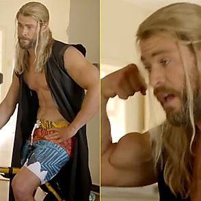 Chris Hemsworth latest sexy shirtless February 14, 2017, 5pm