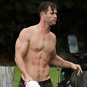 Chris Hemsworth latest sexy shirtless May 2, 2019, 12am