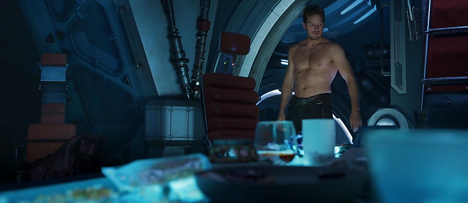 Chris Pratt sexy shirtless scene August 8, 2017, 12pm