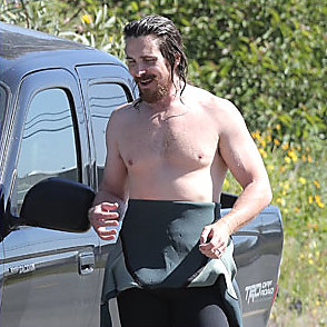 Christian Bale latest sexy shirtless March 8, 2015, 10am