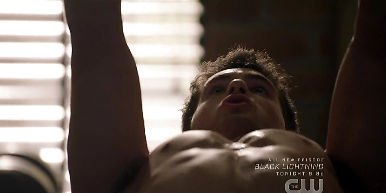 Cody Christian sexy shirtless scene October 17, 2019, 8am