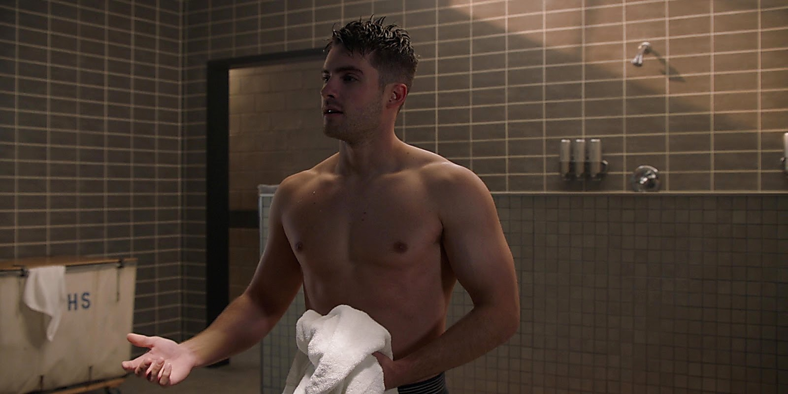 Cody Christian sexy shirtless scene March 21, 2020, 10am