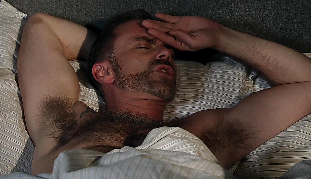 Daniel Brocklebank sexy shirtless scene November 14, 2017, 3pm