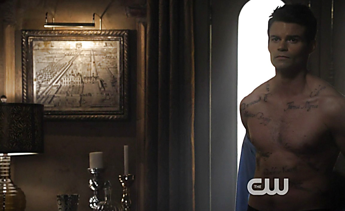 Daniel Gillies sexy shirtless scene March 9, 2014, 5pm