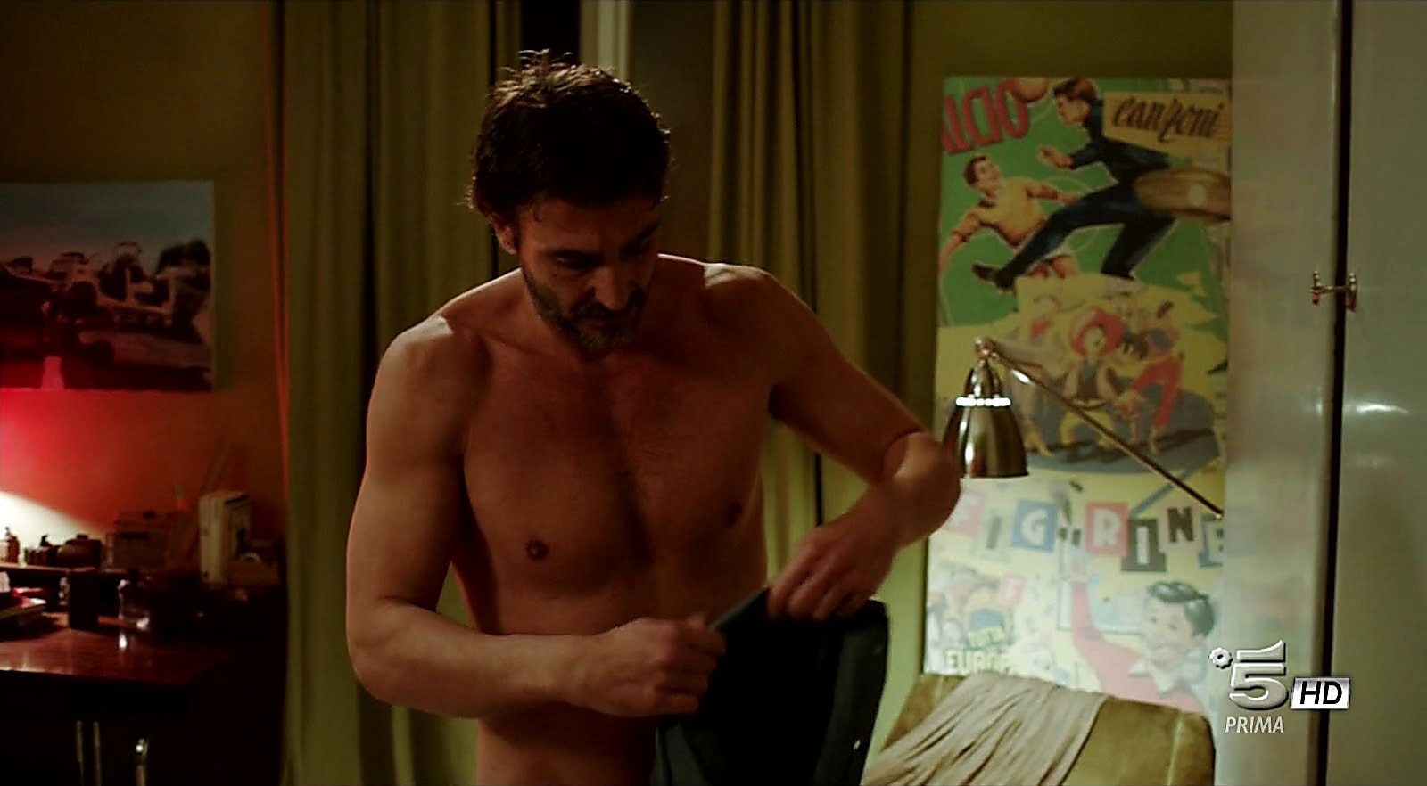 Daniele Liotti sexy shirtless scene January 27, 2018, 3pm