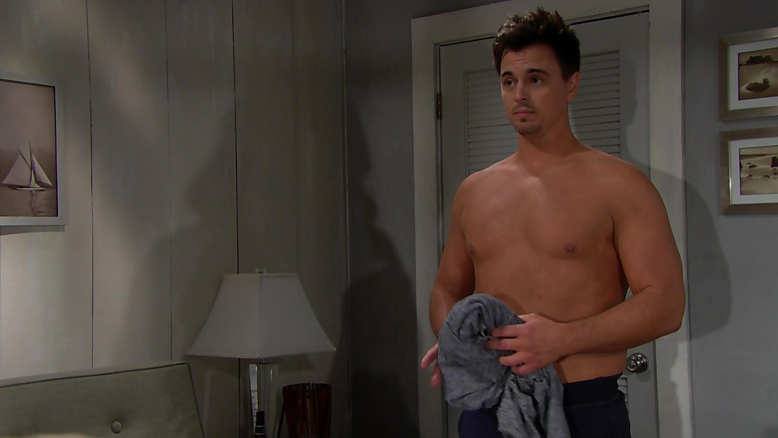 Darin Brooks sexy shirtless scene February 14, 2019, 11am