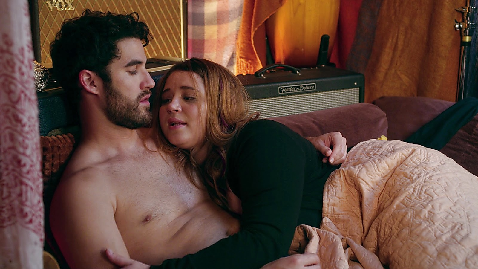Darren Criss sexy shirtless scene August 17, 2020, 12pm