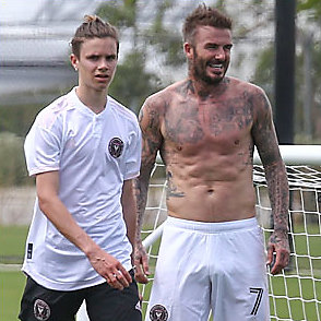 David Beckham latest sexy shirtless March 14, 2020, 3pm