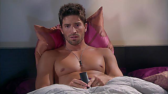 David Chocarro sexy shirtless scene October 5, 2020, 11am