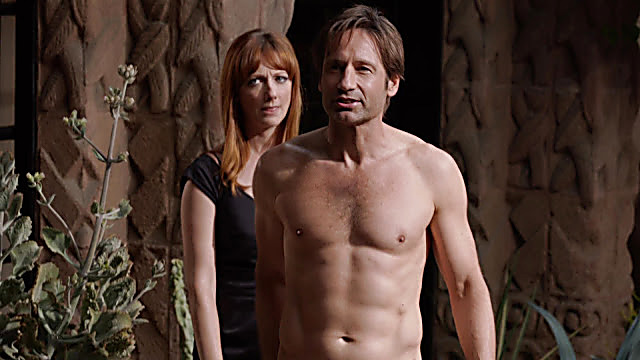 David Duchovny sexy shirtless scene November 2, 2020, 1pm