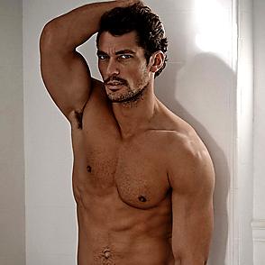 David Gandy latest sexy shirtless February 4, 2015, 11pm