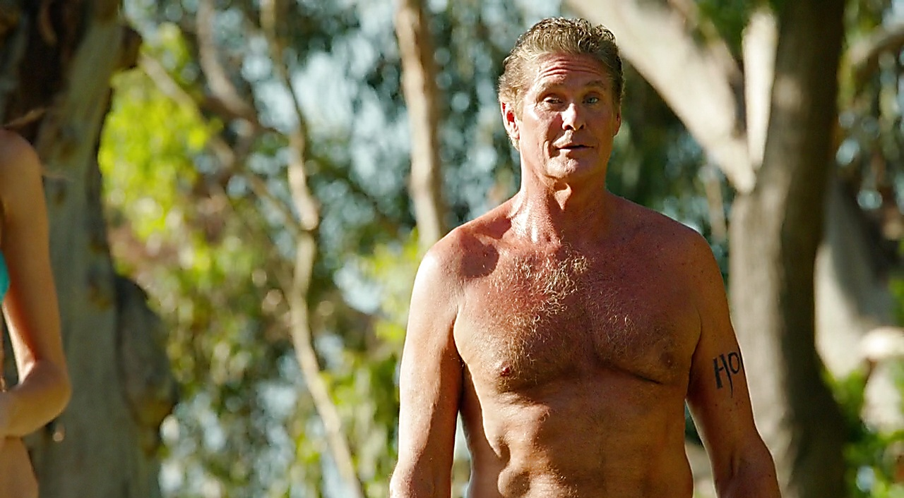 David Hasselhoff sexy shirtless scene August 30, 2017, 10am