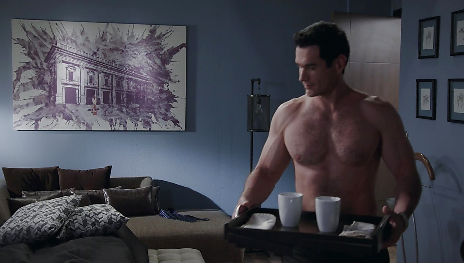 David Zepeda sexy shirtless scene June 9, 2018, 11am