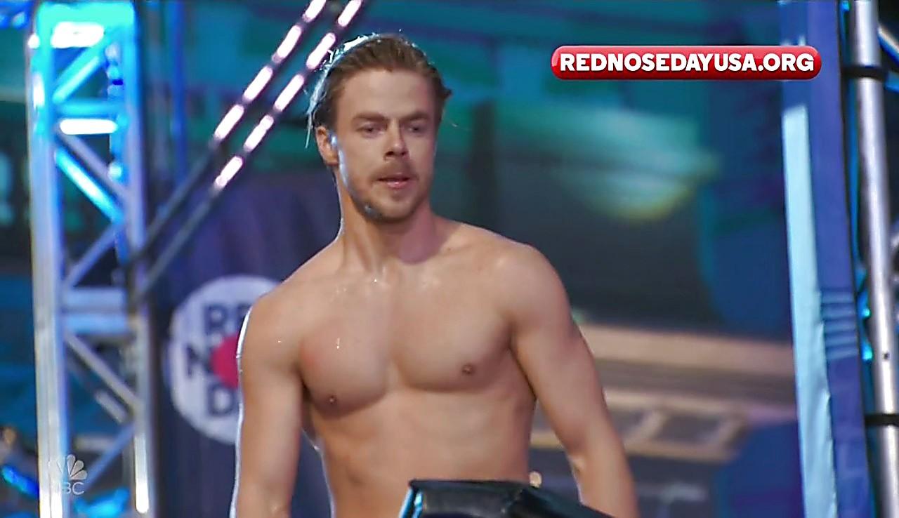 Derek Hough sexy shirtless scene June 1, 2017, 3pm