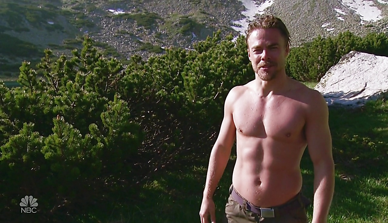 Derek Hough sexy shirtless scene June 27, 2018, 6am