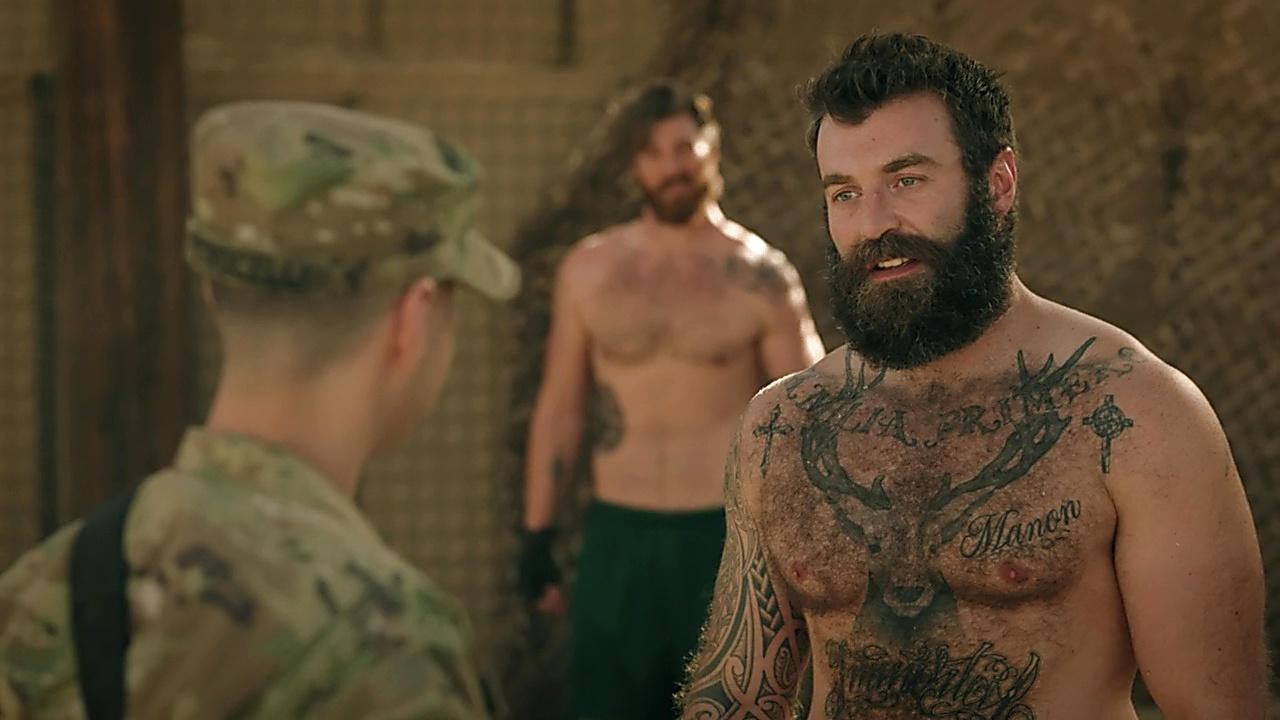 Derek Theler sexy shirtless scene January 30, 2020, 1pm