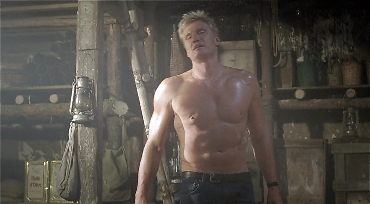 Dolph Lundgren sexy shirtless scene July 23, 2018, 12pm
