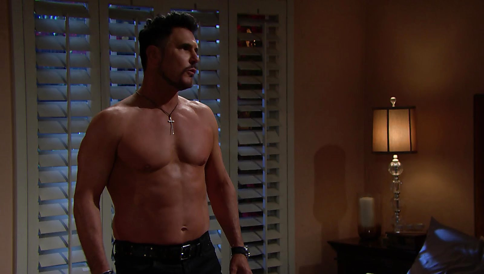 Don Diamont sexy shirtless scene November 17, 2017, 1pm