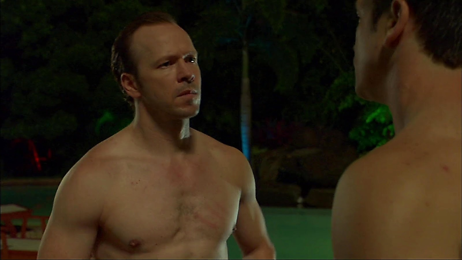 Donnie Wahlberg sexy shirtless scene January 2, 2020, 11am