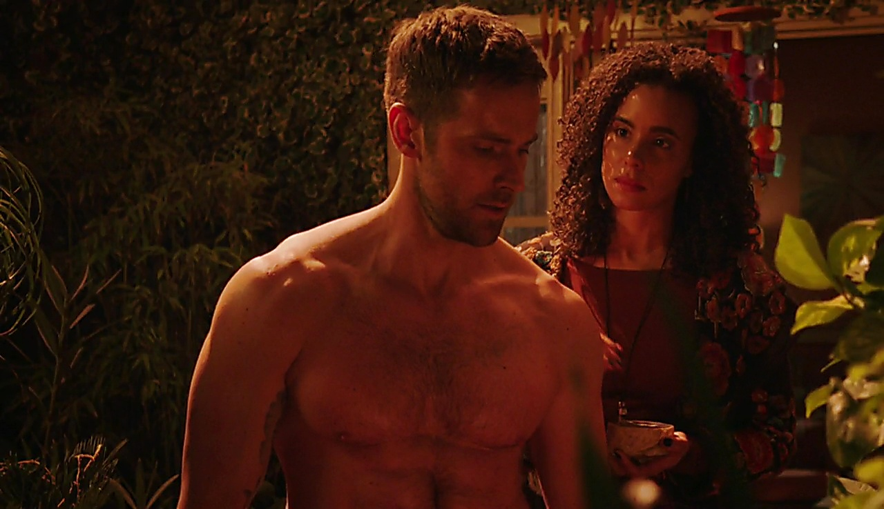 Dylan Bruce sexy shirtless scene September 14, 2017, 6am