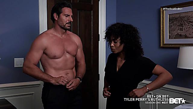 Ed Quinn sexy shirtless scene April 28, 2021, 6am
