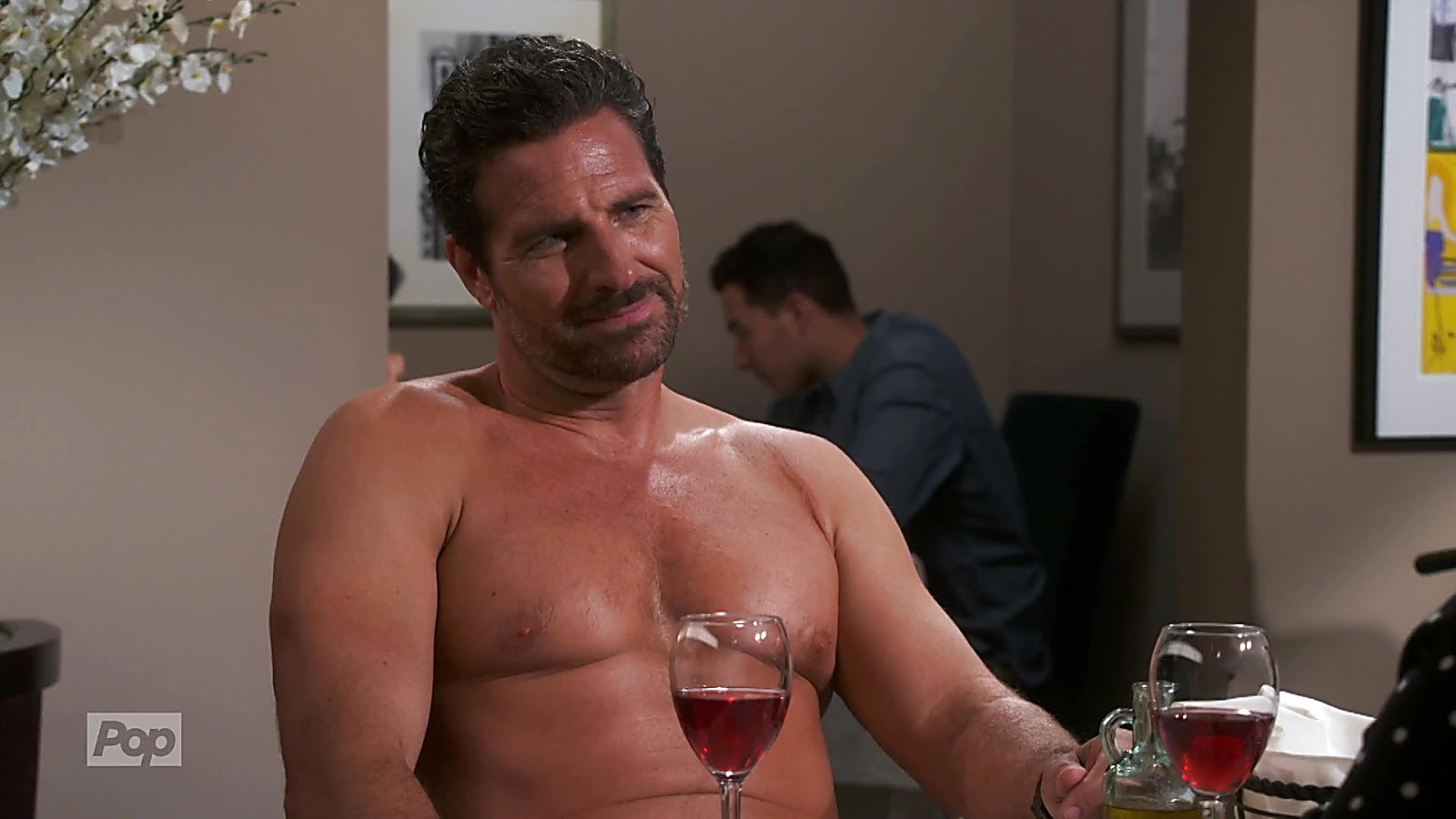 Ed Quinn sexy shirtless scene April 17, 2020, 8am