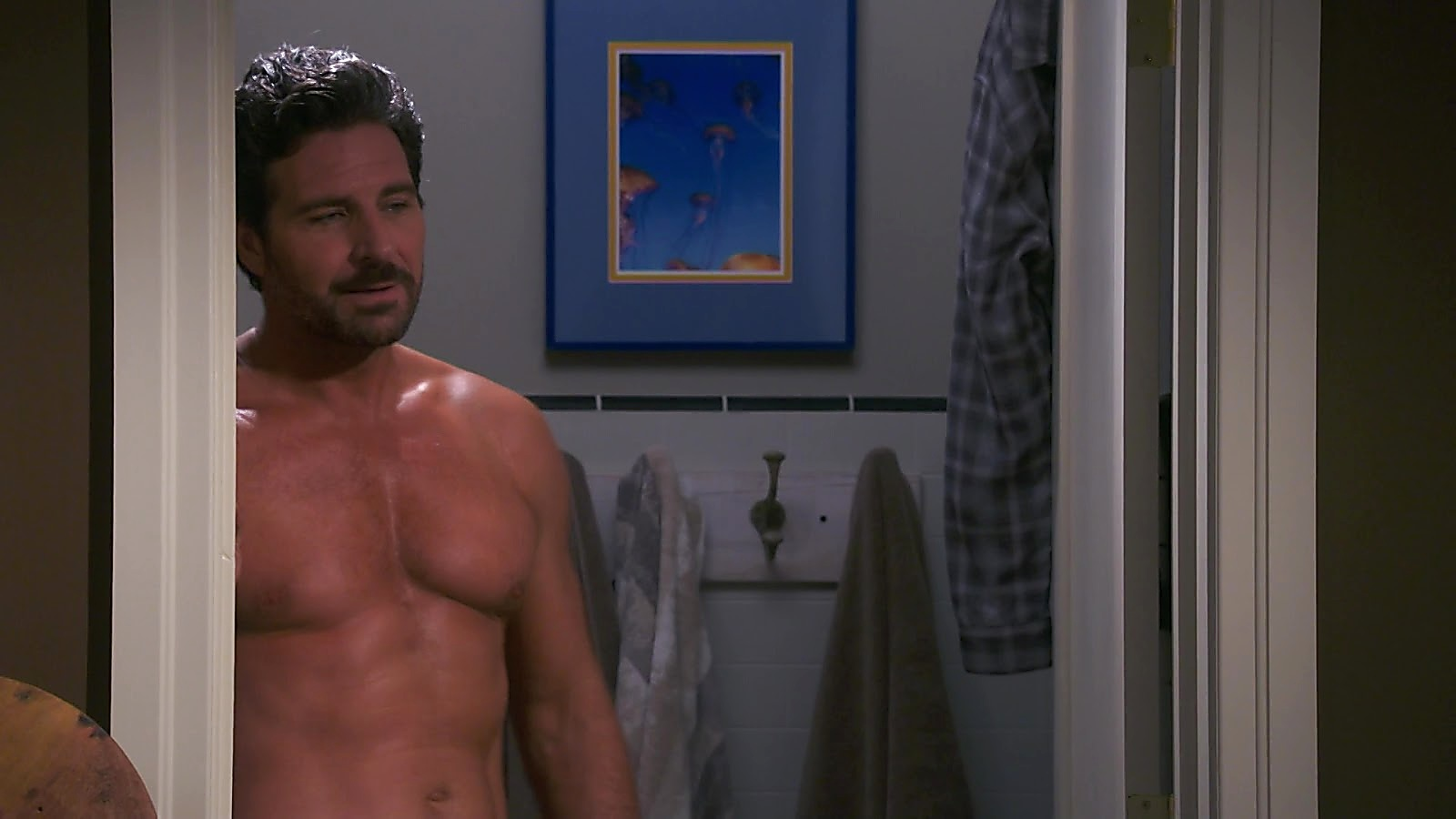 Ed Quinn sexy shirtless scene August 4, 2020, 3pm