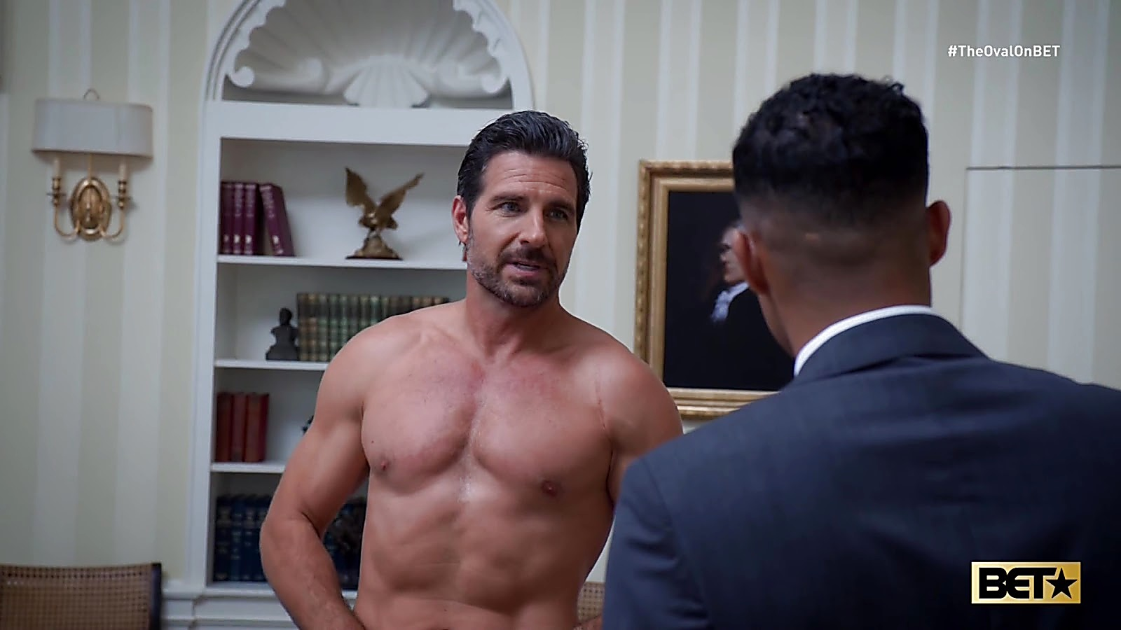 Ed Quinn sexy shirtless scene July 27, 2020, 12pm