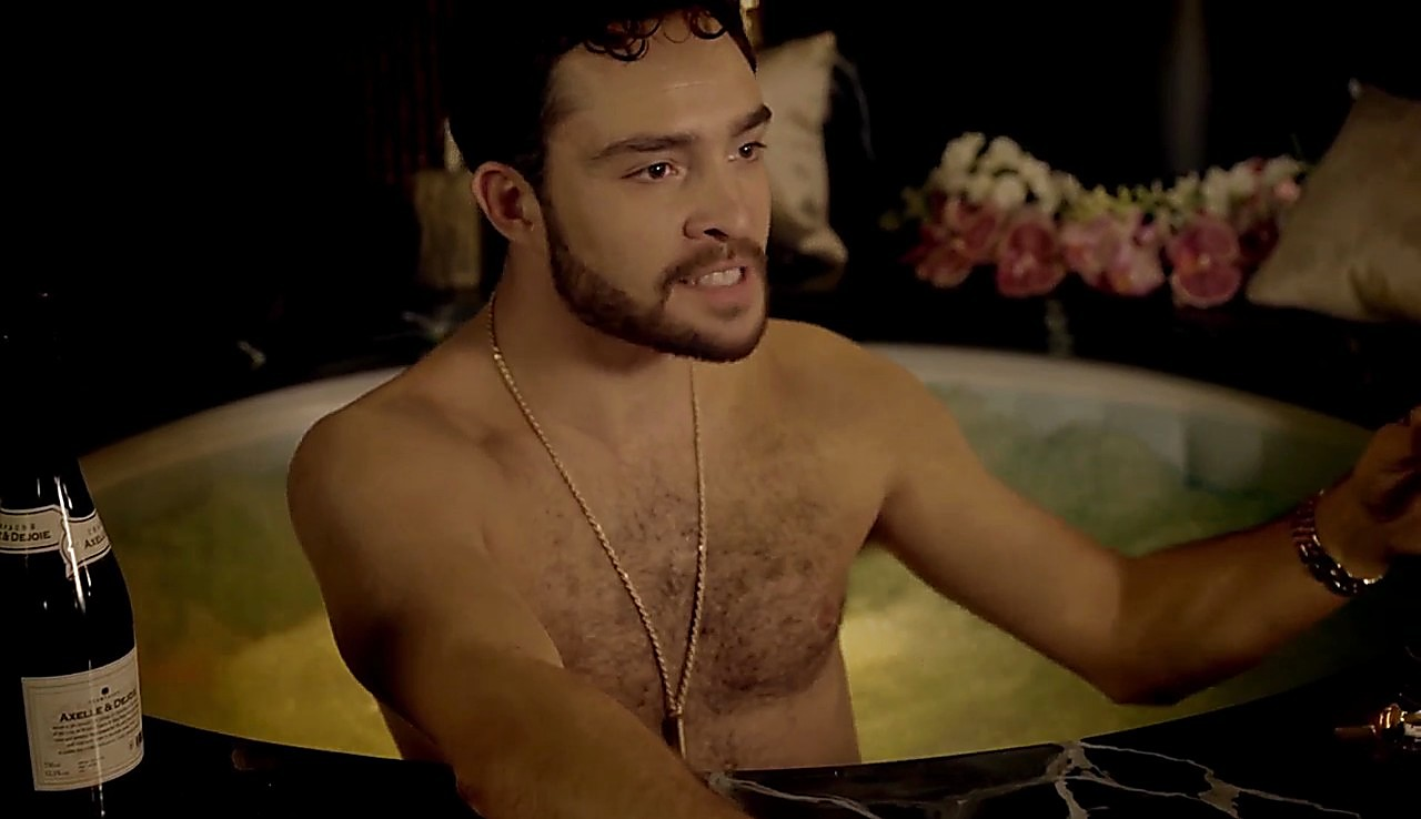 Ed Westwick sexy shirtless scene March 16, 2017, 2pm