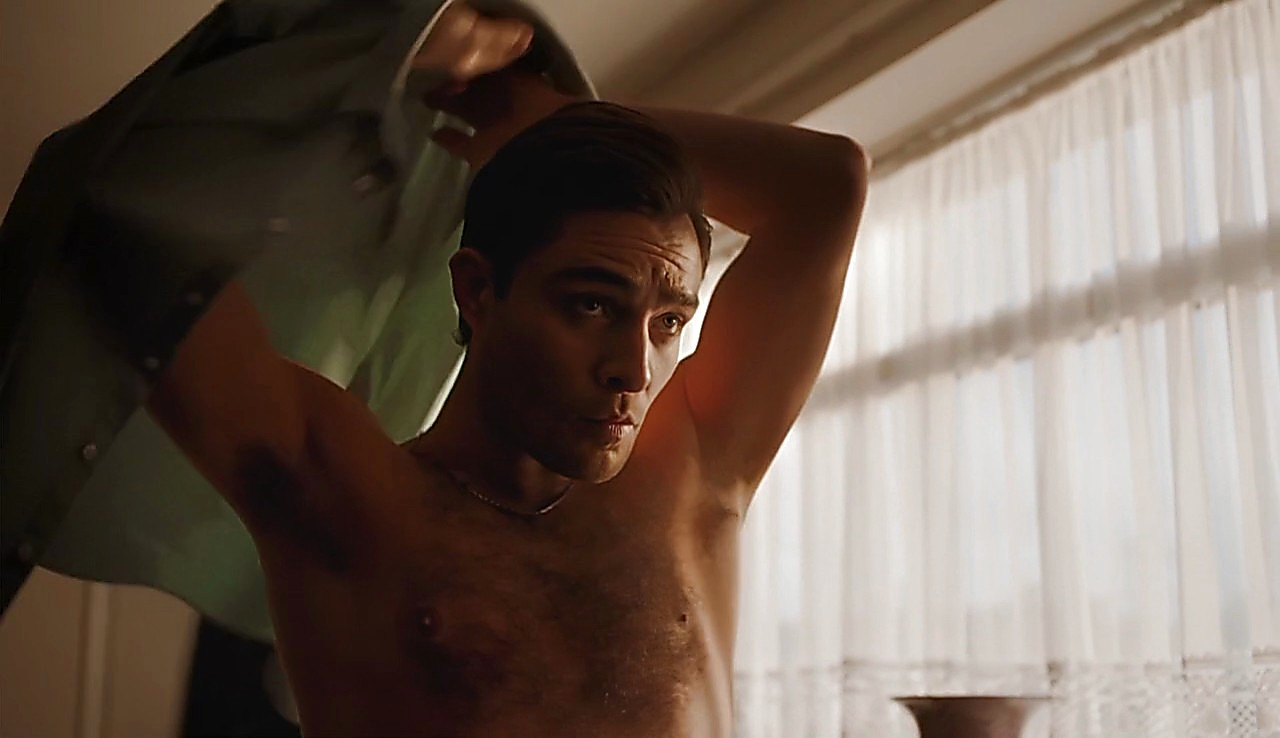Ed Westwick sexy shirtless scene May 25, 2017, 5am