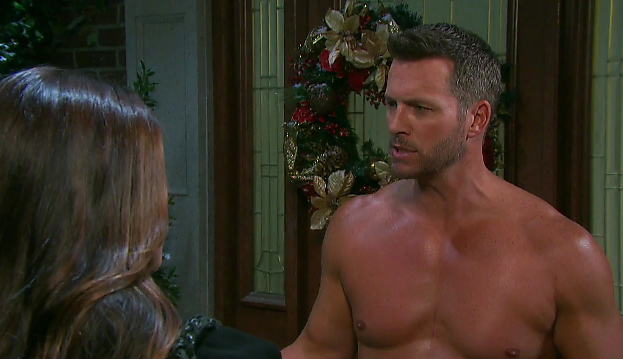 Eric Martsolf sexy shirtless scene January 4, 2018, 1pm