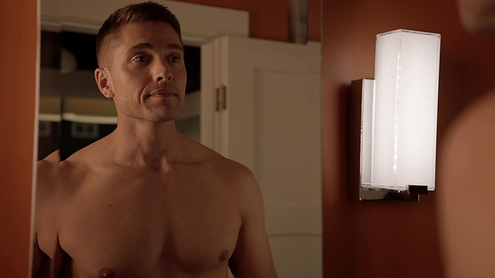 Eric Winter sexy shirtless scene August 2, 2020, 12pm