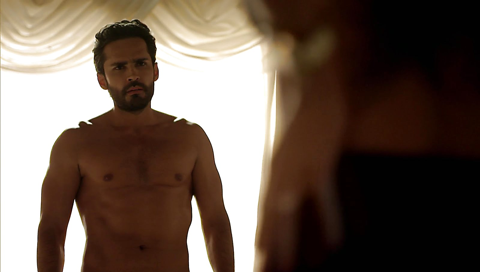 Fabian Rios sexy shirtless scene September 25, 2017, 1pm