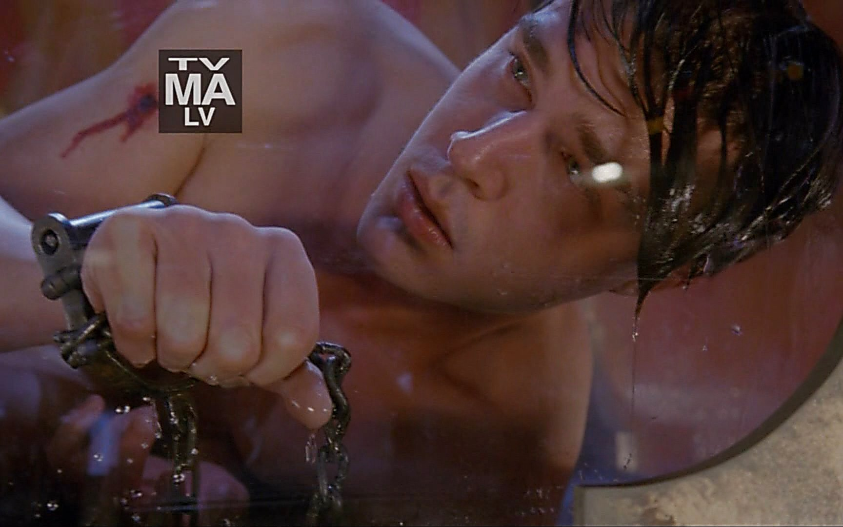 Finn Wittrock sexy shirtless scene January 22, 2015, 2am