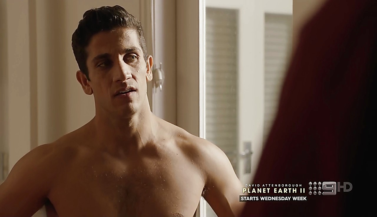 Firass Dirani sexy shirtless scene February 6, 2017, 9am