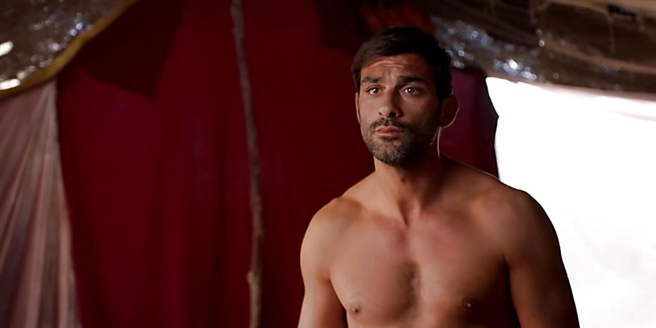 Francesco Arca sexy shirtless scene November 18, 2019, 1pm
