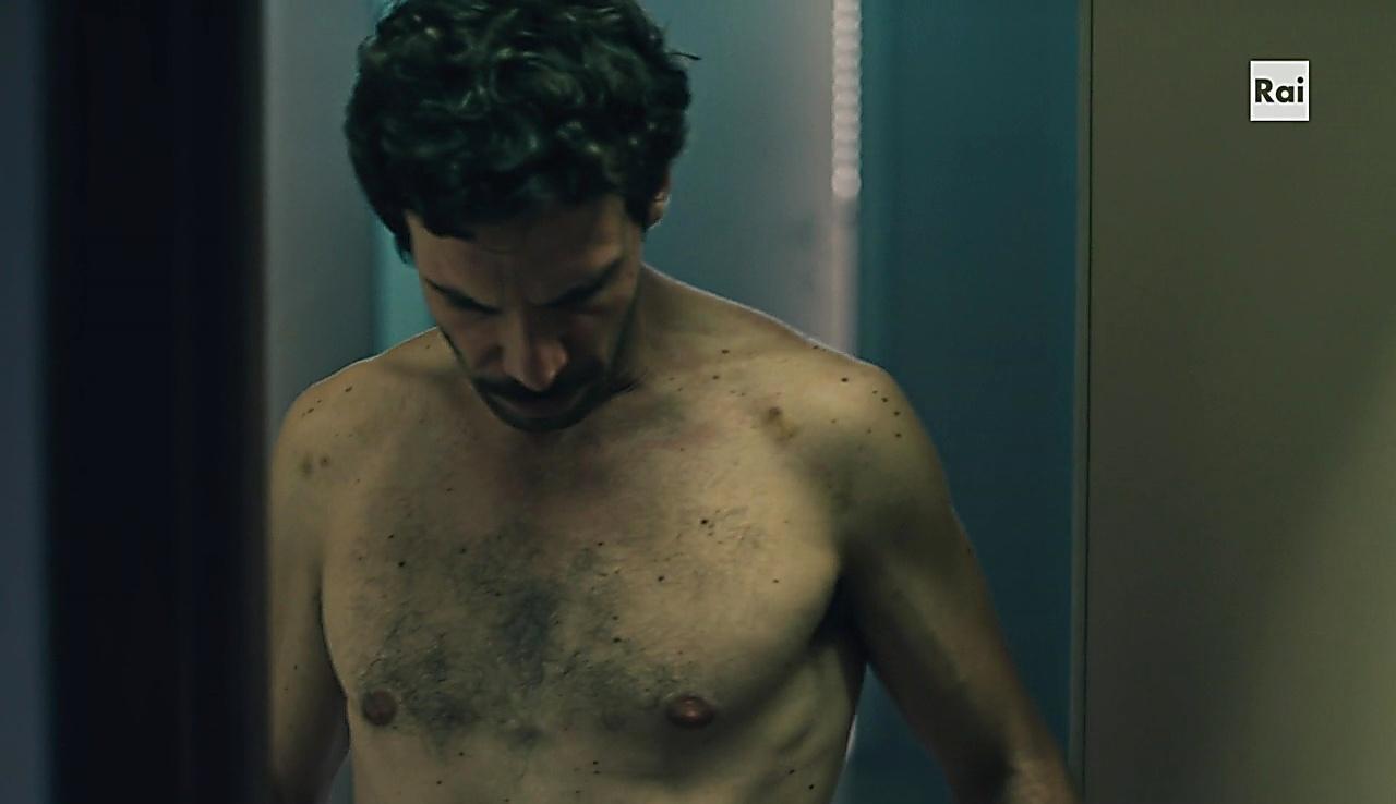 Francesco Montanari sexy shirtless scene April 16, 2018, 11am