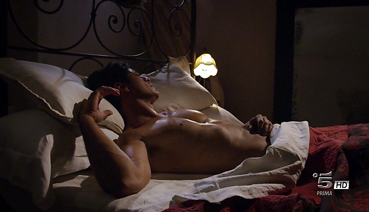 Gabriel Garko sexy shirtless scene April 2, 2017, 1pm