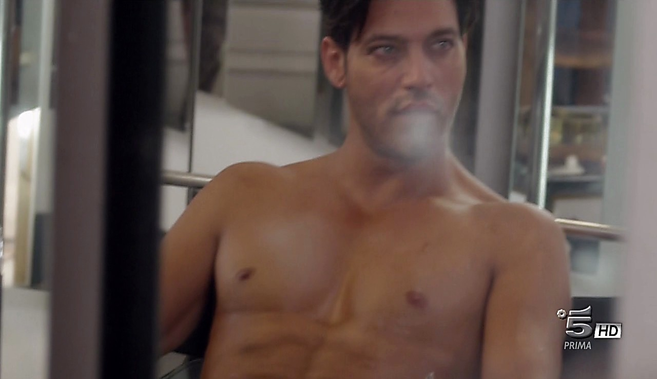 Gabriel Garko sexy shirtless scene April 24, 2017, 1pm