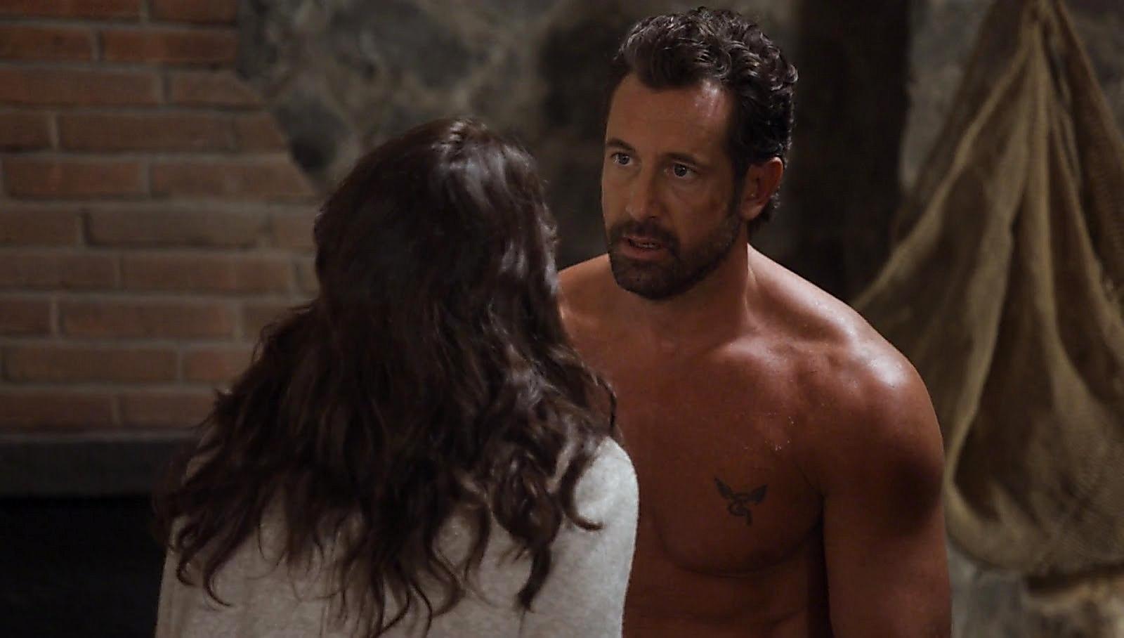 Gabriel Soto sexy shirtless scene December 1, 2017, 1pm