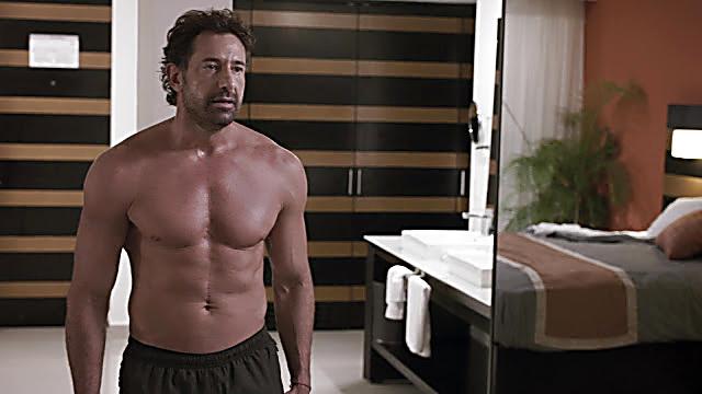 Gabriel Soto sexy shirtless scene February 17, 2021, 5am