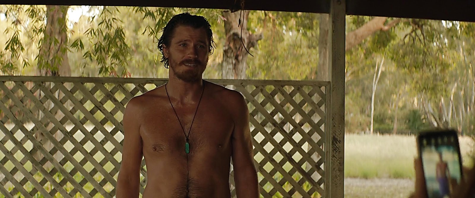 Garrett Hedlund sexy shirtless scene July 17, 2020, 3pm