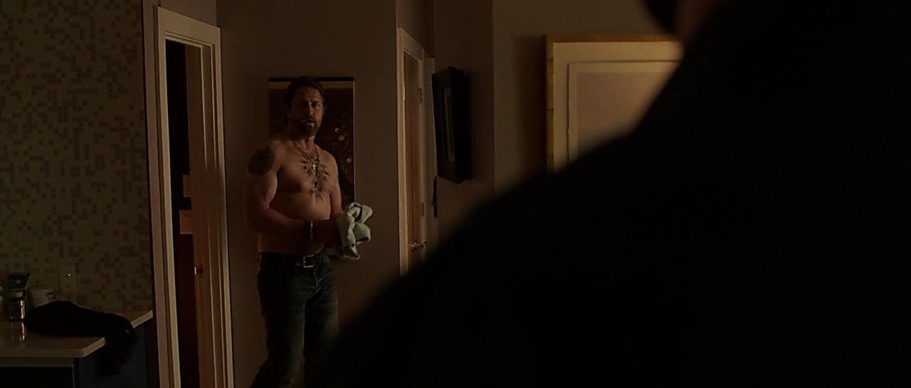 Gerard Butler sexy shirtless scene April 10, 2018, 1pm