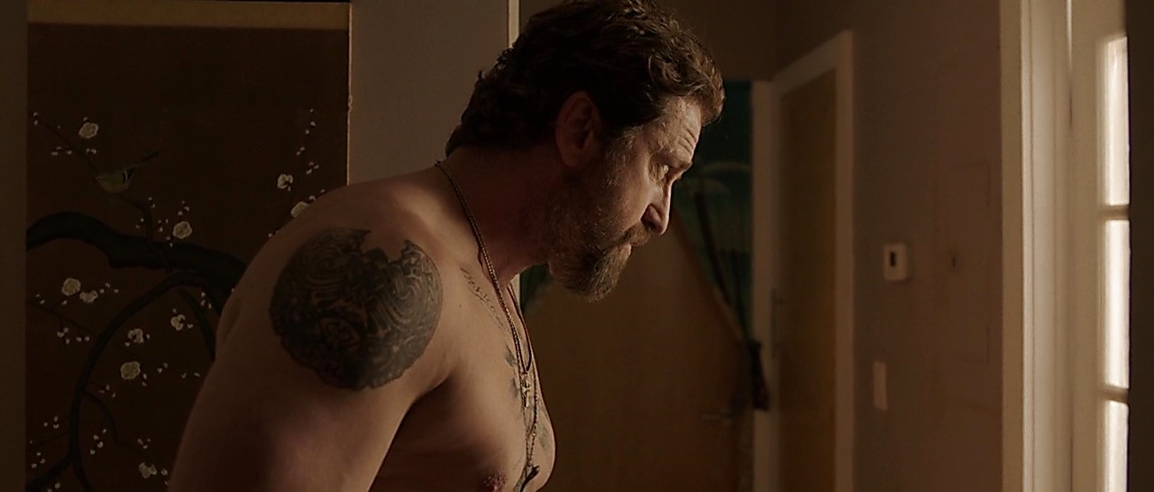 Gerard Butler latest sexy shirtless scene April 10, 2018, 1pm