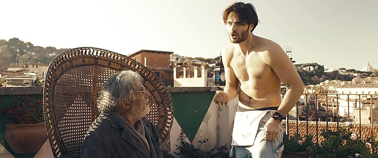 Giulio Berruti sexy shirtless scene February 20, 2019, 11am