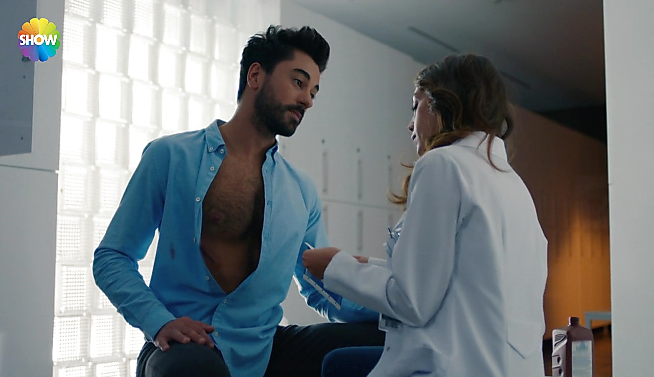 Gokhan Alkan sexy shirtless scene September 23, 2017, 2pm