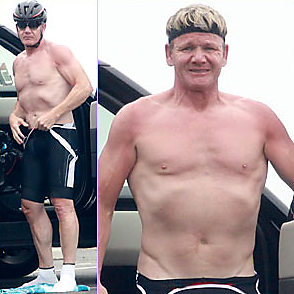 Gordon Ramsay latest sexy shirtless August 1, 2015, 12am